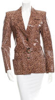 Ungaro Embossed Leather Jacket