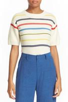 Sea Stripe Knit Wool & Cashmere Top
