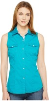 Roper 0855 Solid Teal Poplin Women's Sleeveless