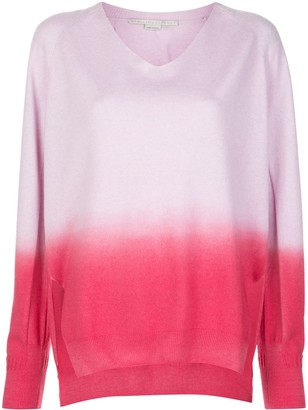 Stella McCartney dip-dyed V-neck jumper