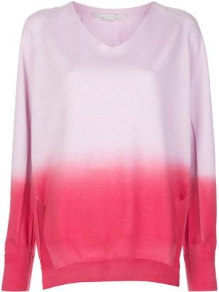 Stella McCartney dip-dyed V-neck jumper