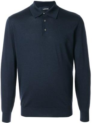 Lardini fine knit polo shirt