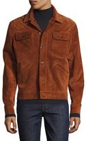 Michael Bastian Suede Spread Collar Jacket