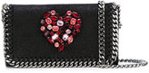 Stella McCartney crystal heart Falabella cross-body bag - women - Polyester/Metal (Other)/glass - One Size