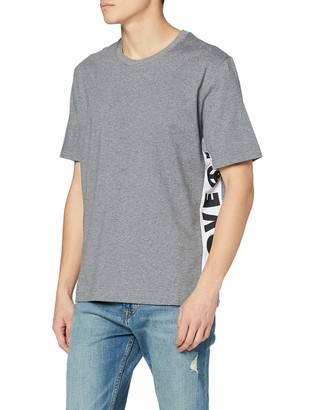 Love Moschino Men's Regular Fit Short Sleeve T-Shirt_Logo B-Side Prints