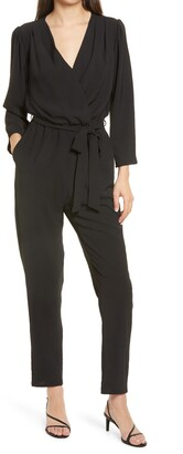 Fraiche by J Long Sleeve Belted Jumpsuit
