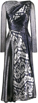 Talbot Runhof Panelled Dress