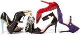 Pour La Victoire Carment Cap-Toe T-Strap Pump, Black/Gold