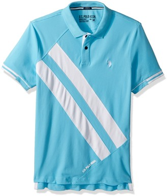 U.S. Polo Assn. Men's Short Sleeve Slim Fit Fancy Pique Polo Shirt