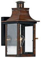 Quoizel Chalmers Wall Mount Lantern in Aged Copper