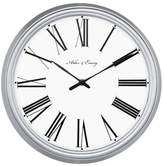 "Threshold Roman 13"" Wall Clock White/Silver"