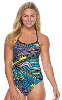 TYR Women's Whaam Valley Geometric One-Piece Swimsuit