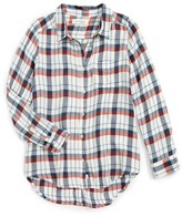 Treasure & Bond Girl's Signature Plaid Shirt
