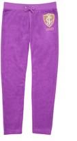 Juicy Couture Girls Logo Velour Flight Of Juicy Slim Pant