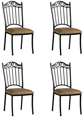 Darby Home Co Winnie Iron Side Upholstered Dining Chair (Set of 4) Darby Home Co