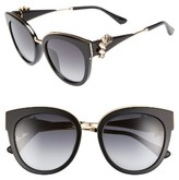Jimmy Choo Women's Jade'S 53Mm Gradient Cat Eye Sunglasses - Black/ Gold/ Black