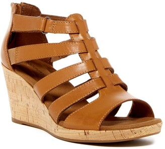 Rockport Briah Gladiator Wedge Sandal - Wide Width Available