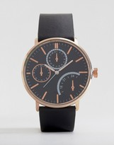 Asos Watch With Rose Gold Case