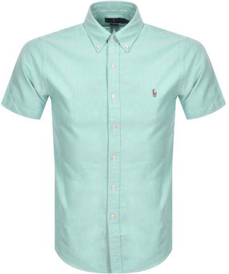 Ralph Lauren Short Sleeved Slim Fit Shirt Blue