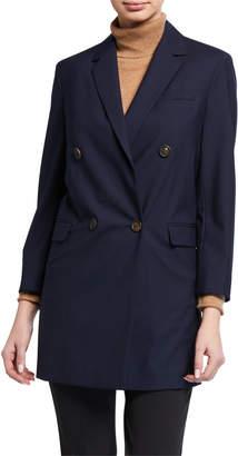 Brunello Cucinelli Tropical Luxury Twill Long Jacket