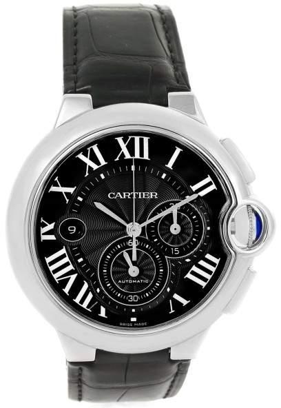 Cartier Ballon Bleu W6920052 Stainless Steel & Black Dial 47mm Mens Watch