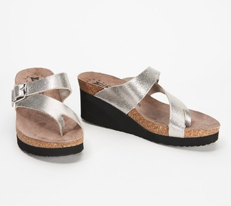 Mephisto Nubuck Leather Slide Wedges - Tyfanie