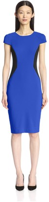 Society New York Women's Colorblocked Cap Sleeve Dress