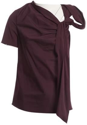 Vionnet Purple Cotton Tops