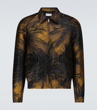 Saint Laurent Teddy printed satin jacket