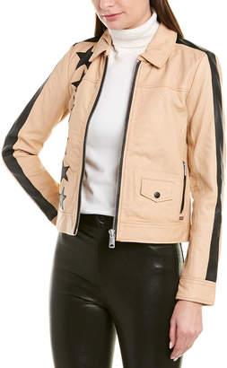 Scotch & Soda Patched Leather Jacket