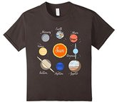 Kids Planets Sun Solar System Boys and Girls Youth T-shirt
