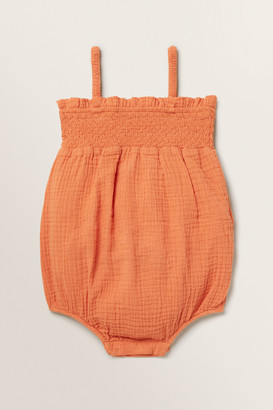 Seed Heritage Cheesecloth Frill Romper