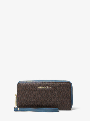 Michael Kors Large Logo and Leather Wristlet