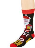 Asstd National Brand Holiday Sole Sayings Crew Socks