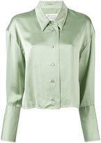Maison Margiela cropped frayed hem shirt - women - Viscose - 42