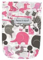 Diapees & Wipees Safari Pink Baby Diaper and Wipes Bag by