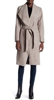 Soia & Kyo Long Belted Wool Blend Coat