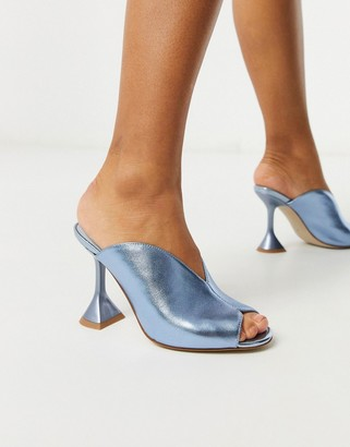 Jeffrey Campbell Vida heeled sandals in blue metallic