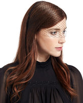 Jennifer Behr Voilette Veil Headband, Black