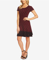 CeCe Plaid Jacquard Fit & Flare Dress