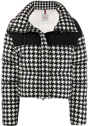 Moncler Houndstooth Printed Padded Jacket