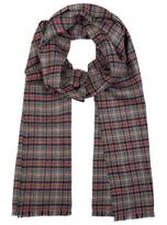 Johnstons of Elgin Green Glen Check Merino Wool Scarf