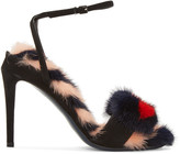 Fendi Black Hypnoteyes Sandals