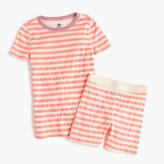 J.Crew Girls' short-sleeve pajama set in stripe
