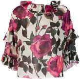 Blugirl floral print frill trim blouse