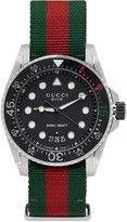 Gucci Green & Red Web XL Dive Watch