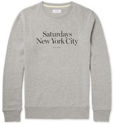 Saturdays NYC Bowery Miller Printed Loopback Cotton-jersey Sweatshirt - Gray