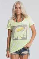 Chaser LA Blondie Raw Edge Raglan in Tie-Dye Yellow