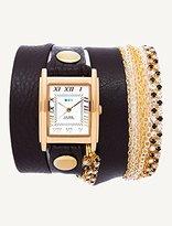 La Mer Women's LMMULTI5005 Gatsby Crystal Wrap Watch