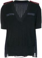 Sacai sheer back sweater - women - Cotton/Polyester - 4